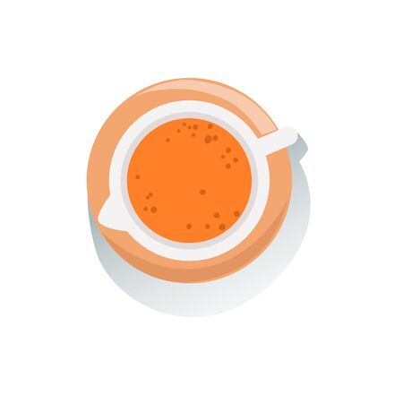usual: Jug Of Fresh Orange Fruit Juice View From Above Classic Breakfast Food Products And Menu Items. Part Of Collection Of Usual Morning Meal Dishes Vector Cartoon Illustrations. Illustration