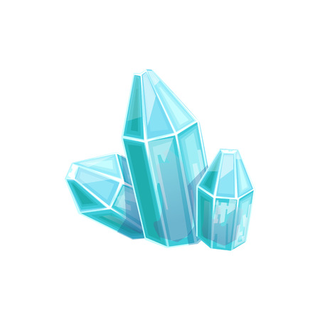 came: Small Blue Crystal Gem, Hidden Treasure And Riches For Reward In Flash Came Design Variation. Cartoon Cute Vector Illustration With Isolated Treasury Object For Bonus Element In Video Games.