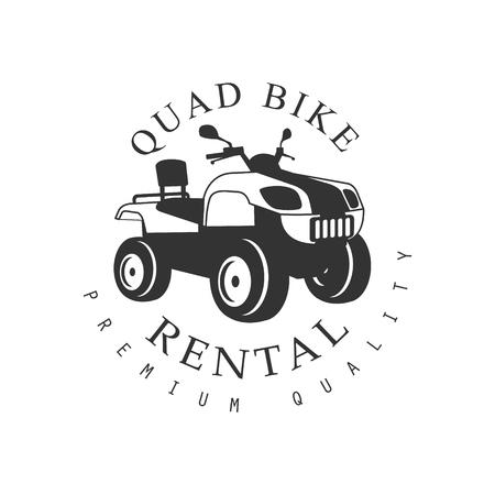 quad: Renting Premium Quality Quad Bike Label Design