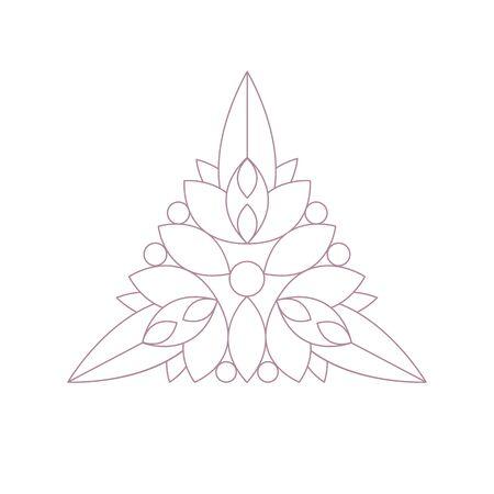patten: Triangle Shape Doodle Ornamental Figure In Monochrome Color For The Zen Adult Coloring Book Illustration. Geometric Repetitive Vector Patten Design To Color.