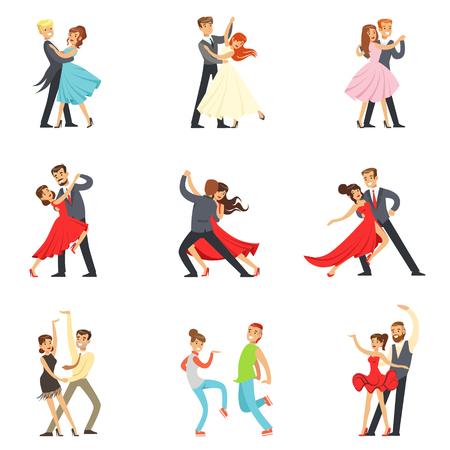 Professionelle Tänzer Paar tanzt Tango, Walzer und andere Tänze auf Tanzwettbewerb Dancefloor Set Standard-Bild - 70308902