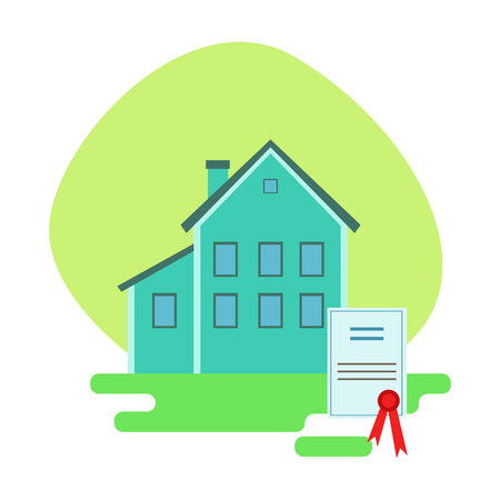 House Protected By The Insurance Contract , Insurance Company Services Infographic Illustration Illustration