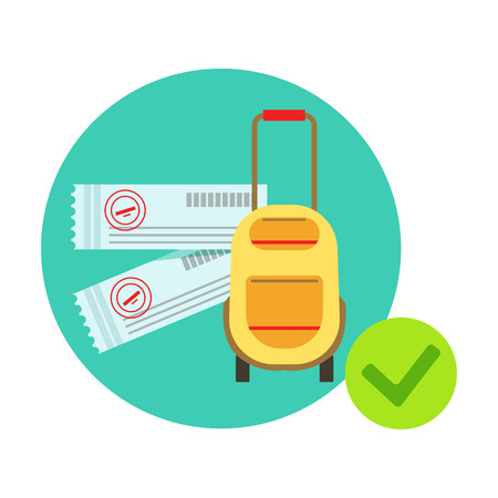 Travelling Bag And Luggage Protected By Insurance Contract , Insurance Company Services Infographic Illustration Illustration