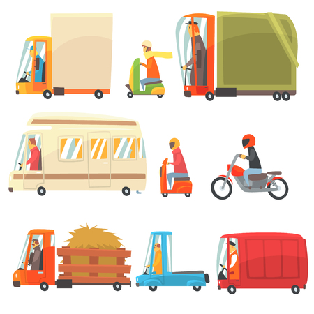 toy cars and trucks. Public And Personal Transport Toy Cars Trucks Collection Of Childish Colorful Transportation Vehicles Stock Vector