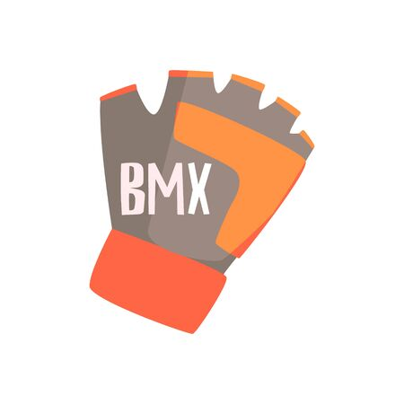 features: Gloves With Fingers Cut Off For Better Grip, Part Of BMX Rider Ammunition And Equipment Set Isolated Object Stock Photo
