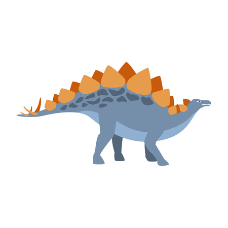Stegosaurus Dinosaur Of Jurassic Period, Prehistoric Extinct Giant Reptile Cartoon Realistic Animal