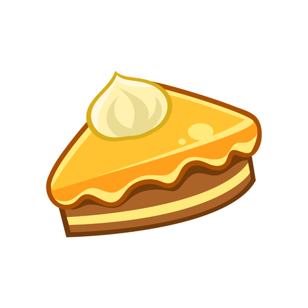 collectible: Piece Of Chocolate And Caramel Cake, Food Item Outlined Isolated Childish Icon For Flash Game Design Or Slot Machine