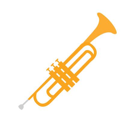 Corneta, parte de instrumentos musicales Conjunto de ilustración vectorial de dibujos animados realistas aislados Foto de archivo - 73480088