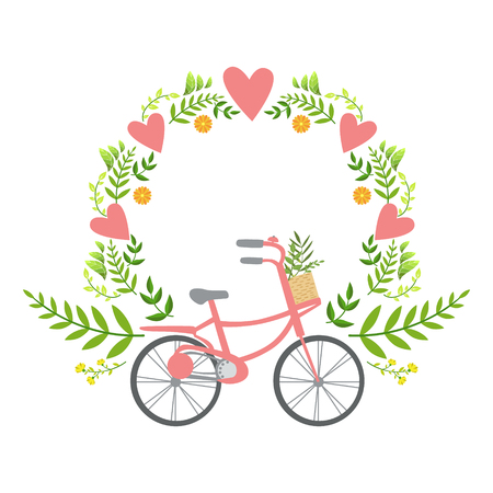 Floral Frame With Hearts Vector Sticker, Template St. Valentines ...