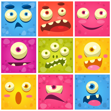 Monster Faces Collection