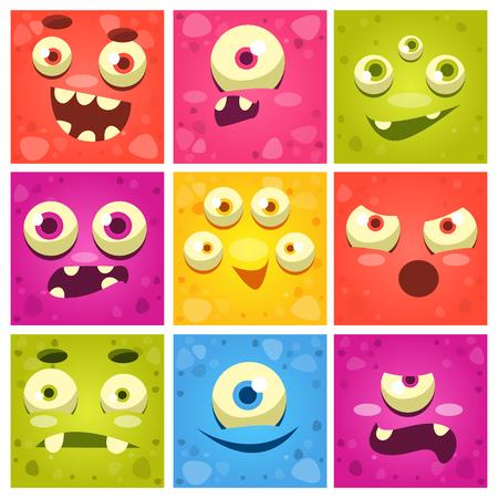Monster Faces Set