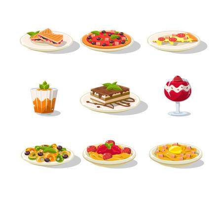 Italian Food Icon Set Illustration