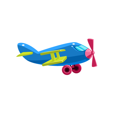 Blue Biplane Toy Aircraft Icon