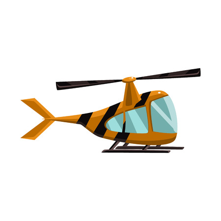 Stripy Helicopter Toy Aircraft Icon