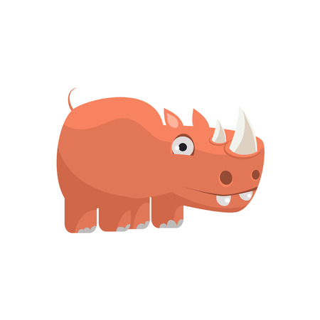 Rhino Funny Illustration