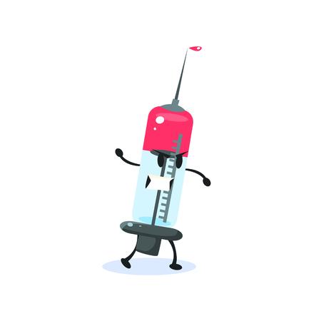 incorrect: Syringe Cartoon Character