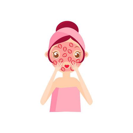 cleansing: Girl Doing Fruit Mask