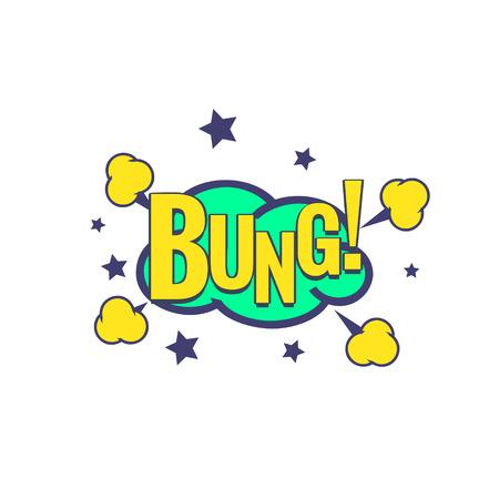 bung: Bung Comic Speech Bubble