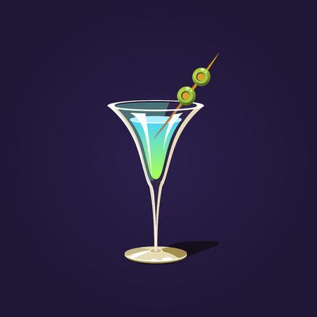 Martini Cocktail Illustratie Stock Illustratie