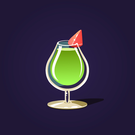cocktail mixer: Green Cocktail Illustration