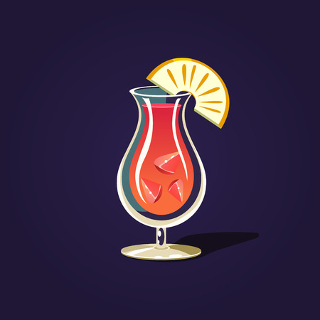 rum: Pineapple Cocktail Illustration