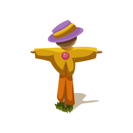 Scarecrow Simplified Cute Illustration Illustration