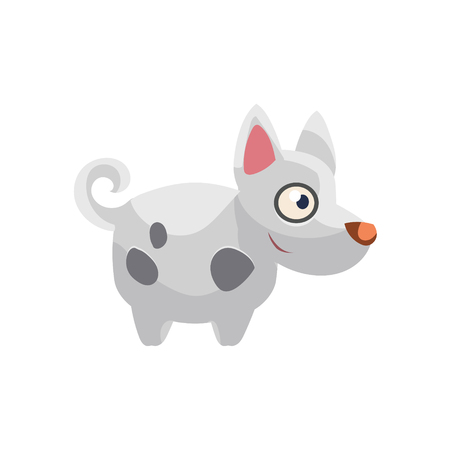 pointy ears: Hound Simplified Cute Illustration Illustration