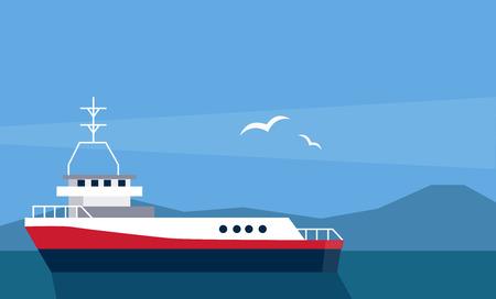 Cargo Ship At The Sea