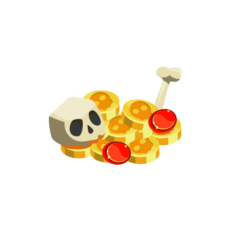 Gold And Scull Toy Icon