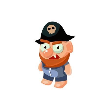 해적 장난감 아이콘 일러스트