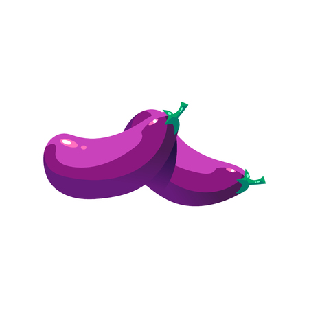 Eggplant Bright Color Simple Illustration
