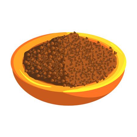 Placa de trigo sarraceno, artículo de alimentos ricos en proteínas, elemento importante de la ilustración de Vector de dieta equilibrada saludable Foto de archivo - 74163639