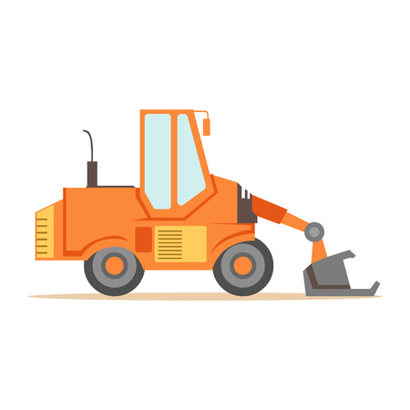 Bulldozer Loader Truck Machine , Part Of Roadworks And Construction Site Series Of Vector Illustrations