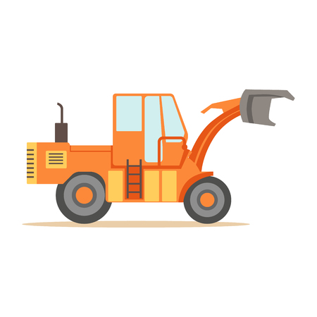 Road Digger Truck Machine , Part Of Roadworks And Construction Site Series Of Vector Illustrations Illustration