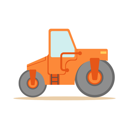 Asphalt Finisher Road Machine , Part Of Roadworks And Construction Site Series Of Vector Illustrations