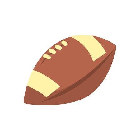 Specifieke vorm lederen bal, onderdeel van American Football gerelateerde geïsoleerde objecten Serie van sportieve illustraties.