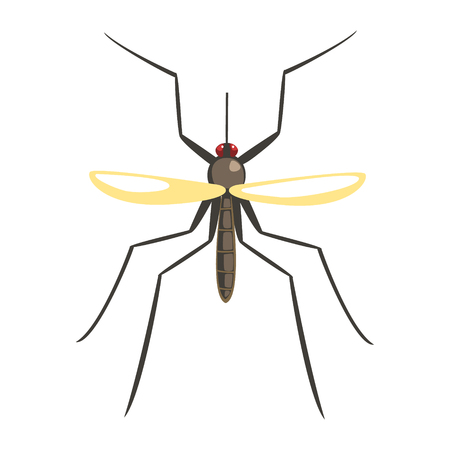 Mosquito insect colorful cartoon character Иллюстрация