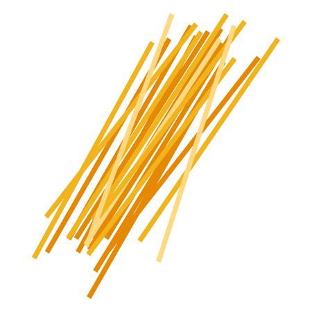 Spaghetti pasta. Uncooked italian pasta, macaroni, cartoon illustration Çizim