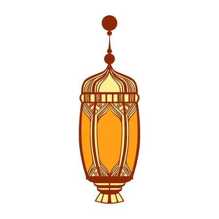 Ramadan lantern, colorful vector illustration