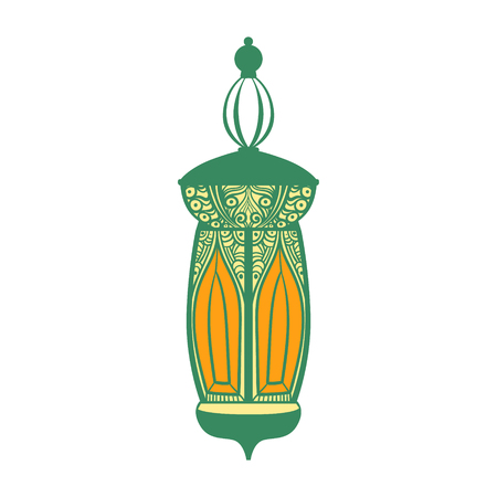 Arabic lamp, colorful vector illustration i