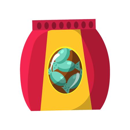 Sac avec Candy Snack, Cinéma et cinéma Objet connexe Cartoon Vector Illustration colorée Banque d'images - 76131120