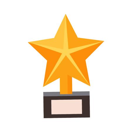 Golden Star Award, Cinema And Movie Theatre Related Object Cartoon Colorful Vector Illustration Ilustração
