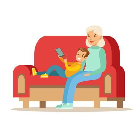 祖母と少年読書電子ブック、祖父母孫シリーズを楽しんでの一部