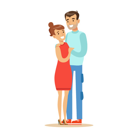 Couple Overwhelmed With Happiness And Joyfully Ecstatic, Happy Smiling Cartoon Character