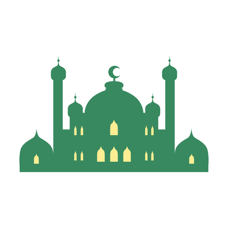 Mosque and minarets. Colorful vector illustration Illustration