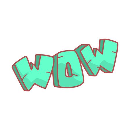 Word written in cartoon style. Çizim