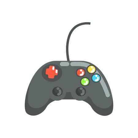 Video game controller, gamepad. Colorful cartoon vector Illustration