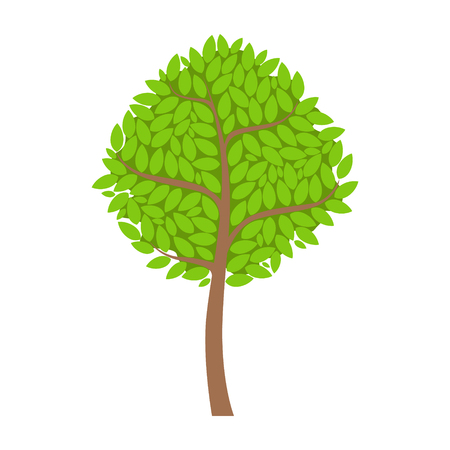 Abstract tree, element of a landscape. Colorful cartoon vector Illustration Reklamní fotografie - 76984600