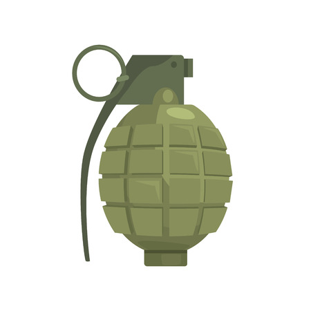 Pineapple hand grenade. Military weapon vector Illustration
