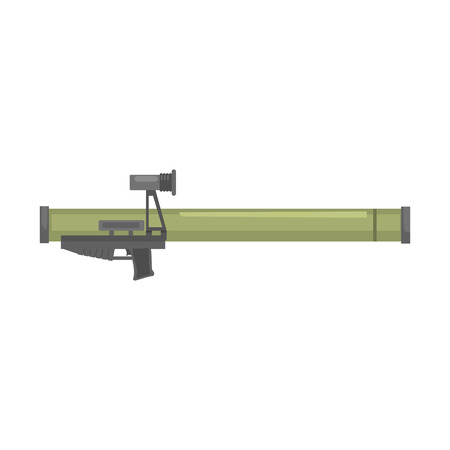 Anti tank rocket propelled grenade launcher, Bazooka. Military weapon vector Illustration Illustration
